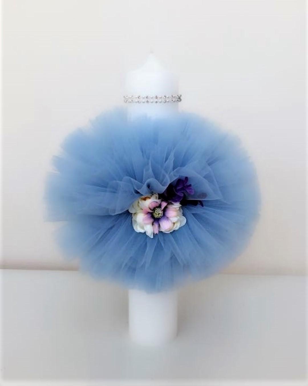 Lumanare Botez Baiat Elegant Blue Colibrikids