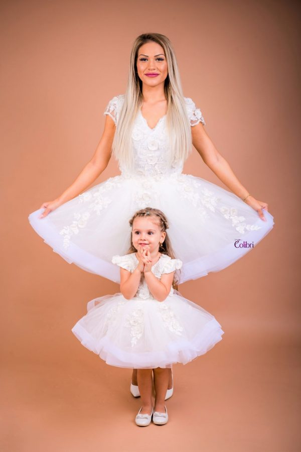 Rochii Mama Fiica elegante din dantela