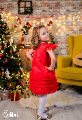 Rochiță roșie de sărbătoare